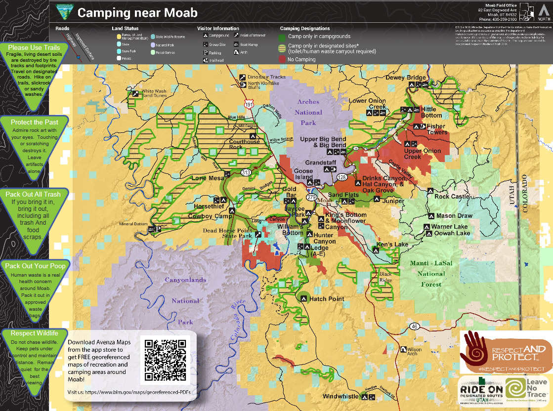 Open the Moab Camping Map in PDF format...